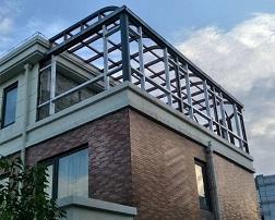系统门窗 顶面弯圆阳光房